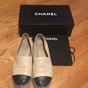 100% authentic Chanel classic espadrilles